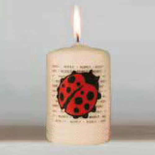 Bedrukte kaarsen eigen ontwerp