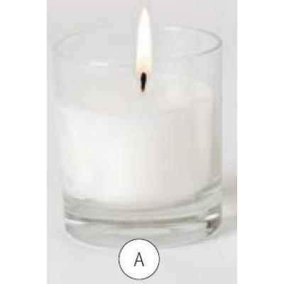 Gedenkkaars in glas blanco