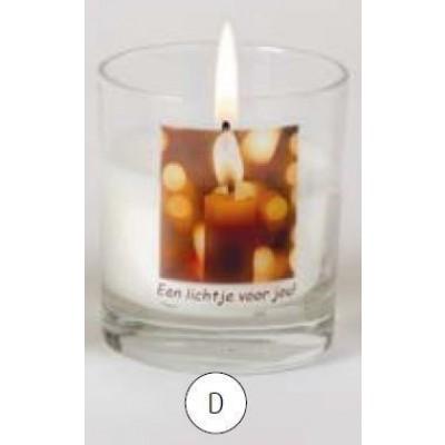 Gedenkkaars n glas Lichtje voor jou
