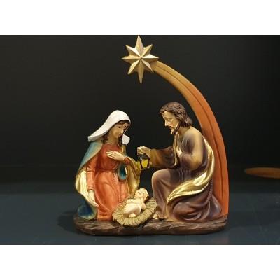 KerstFamilie met Ster 15x15cm