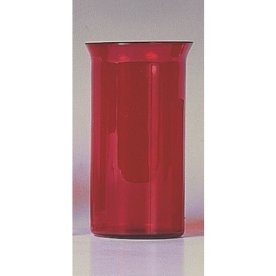 Godslampglas rood, 16 cm    ( 6 dag