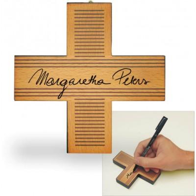 Aandenken kruis, 13 x 13 cm.
