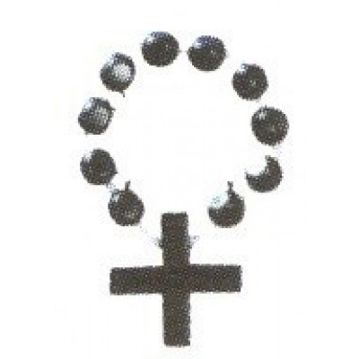 Rozenkrans kunststof, 4 cm