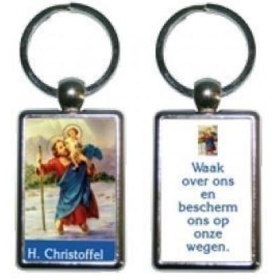 Sleutelhanger H.Christoffel+Tekst