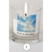 Gedenkkaars in glas Vrede en alle g