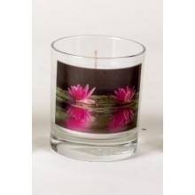 Gedenkkaars in glas Waterlelies