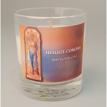 Gedenkkrs in glas H. Corona kleur