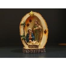 KerstFamilie+licht 15 cm Ovaal