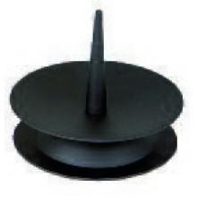 Metalen kandelaar, 80mm., zwart (J)